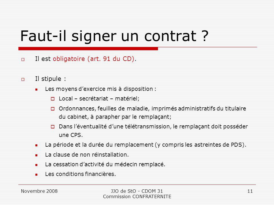 Faut-il signer un contrat