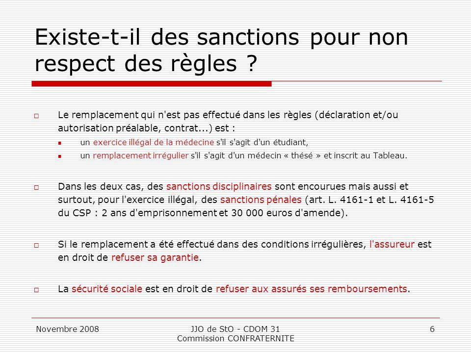 Existe-t-il des sanctions pour non respect des règles