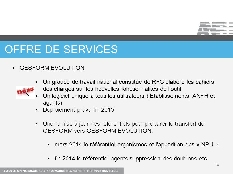 OFFRE DE SERVICES GESFORM EVOLUTION