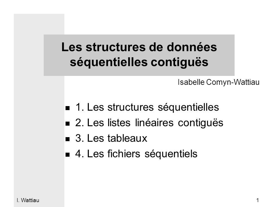 Les structures de données séquentielles contiguës