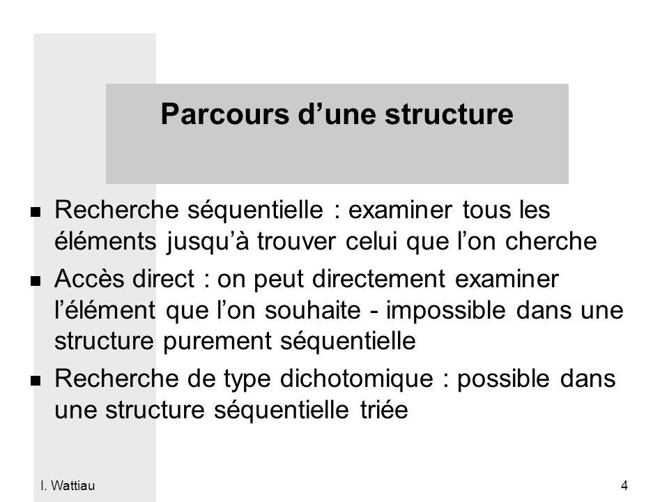 Parcours d'une structure