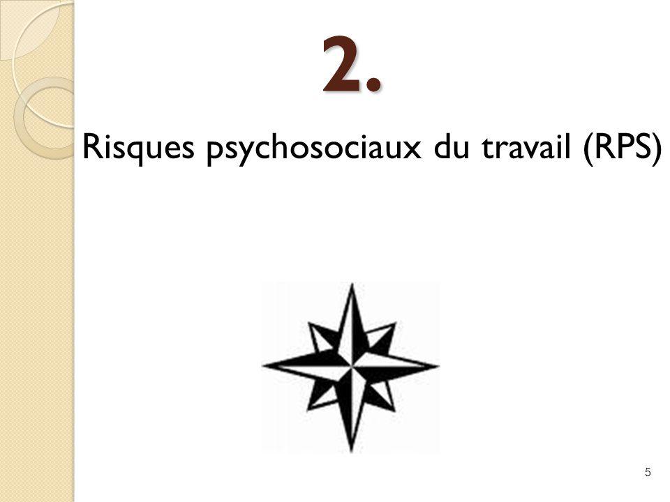 Risques psychosociaux du travail (RPS)