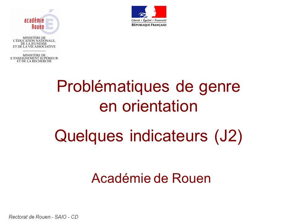 Problématiques de genre en orientation Quelques indicateurs (J2)