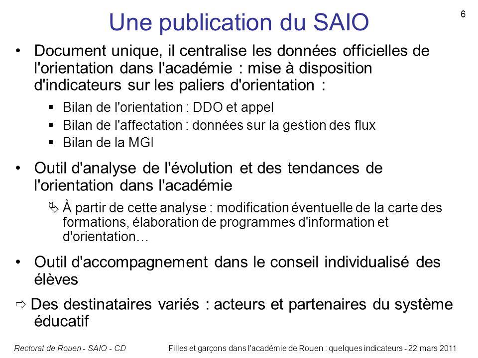 Une publication du SAIO