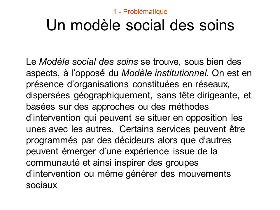 Un modèle social des soins