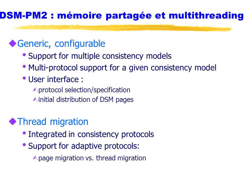 DSM-PM2 : mémoire partagée et multithreading