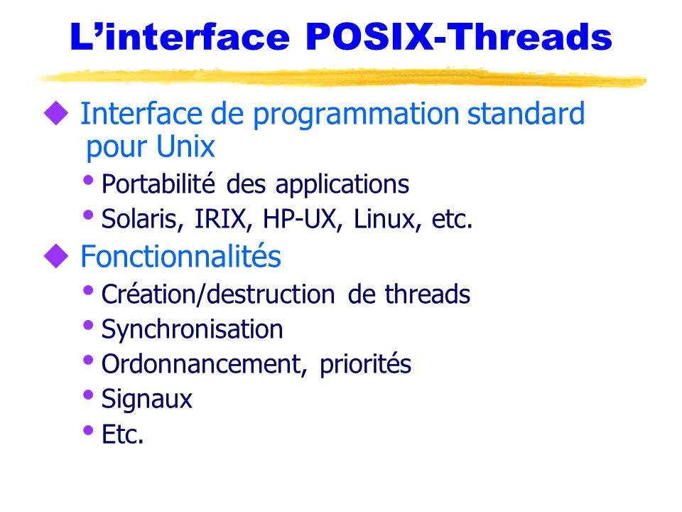 L'interface POSIX-Threads
