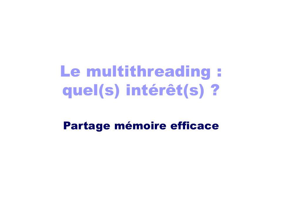 Le multithreading : quel(s) intérêt(s)