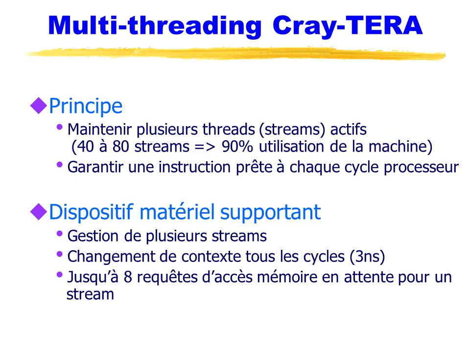 Multi-threading Cray-TERA