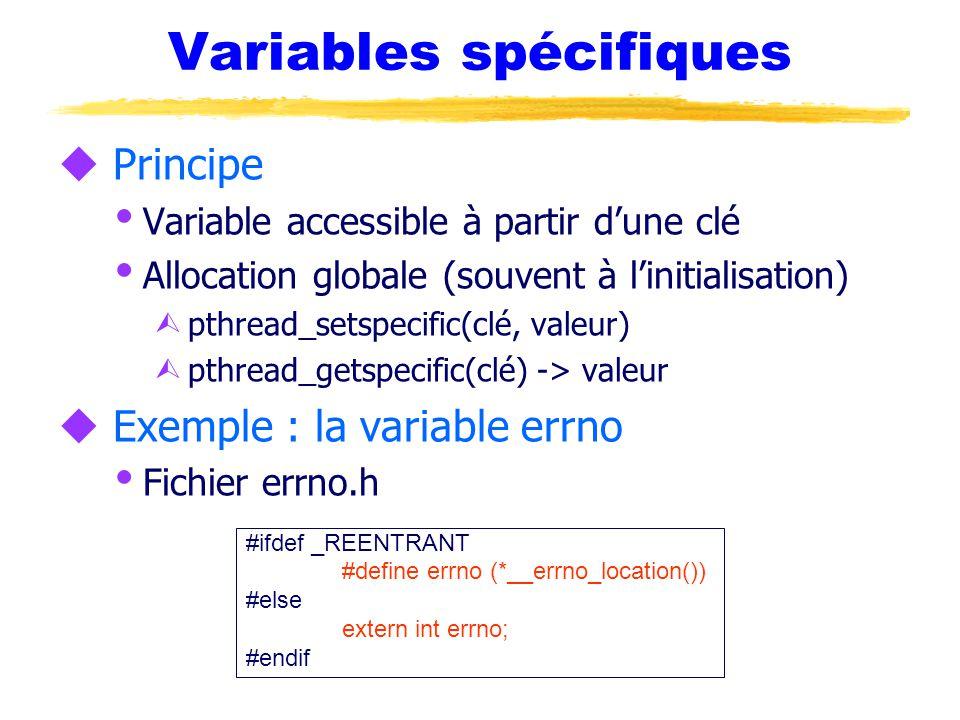 Variables spécifiques