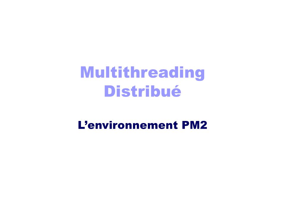 Multithreading Distribué