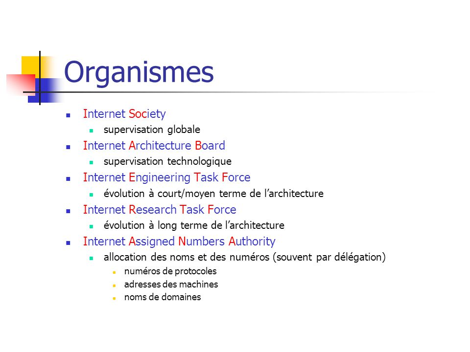 Organismes Internet Society Internet Architecture Board