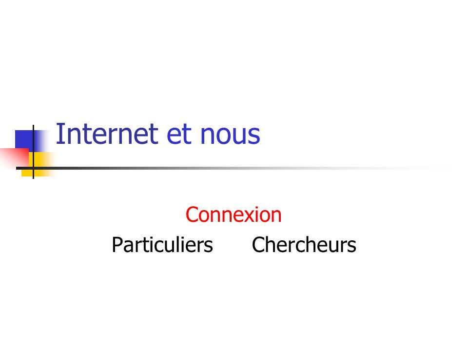 Connexion Particuliers Chercheurs