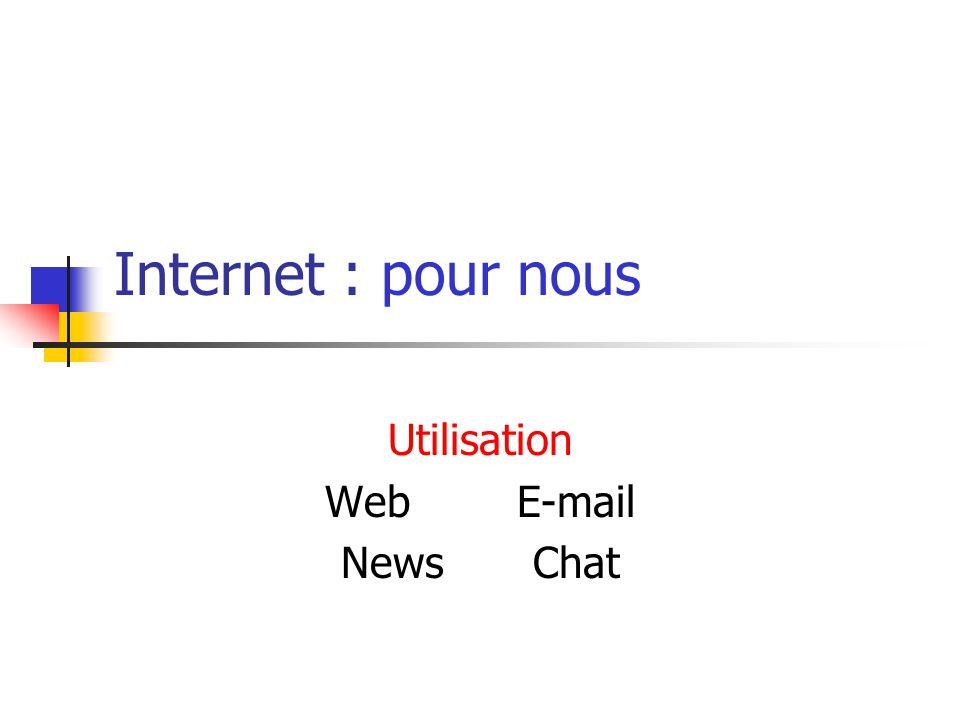 Utilisation Web E-mail News Chat