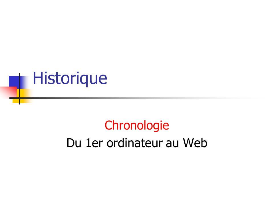Chronologie Du 1er ordinateur au Web
