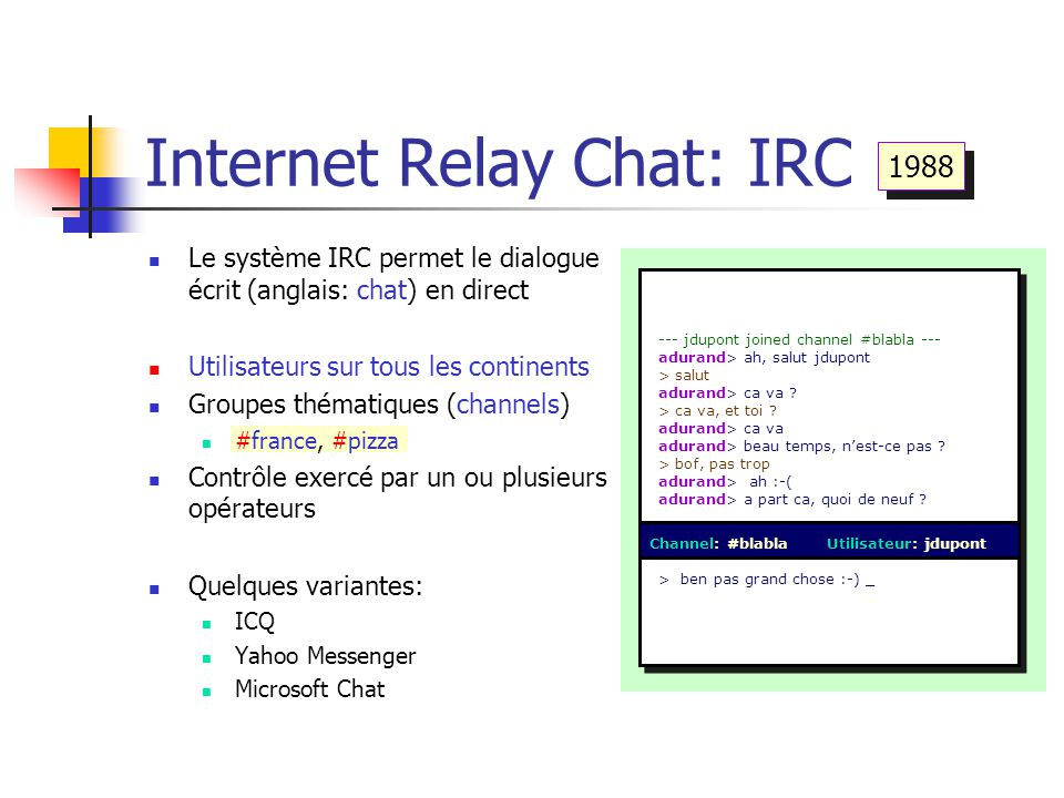 Internet Relay Chat: IRC