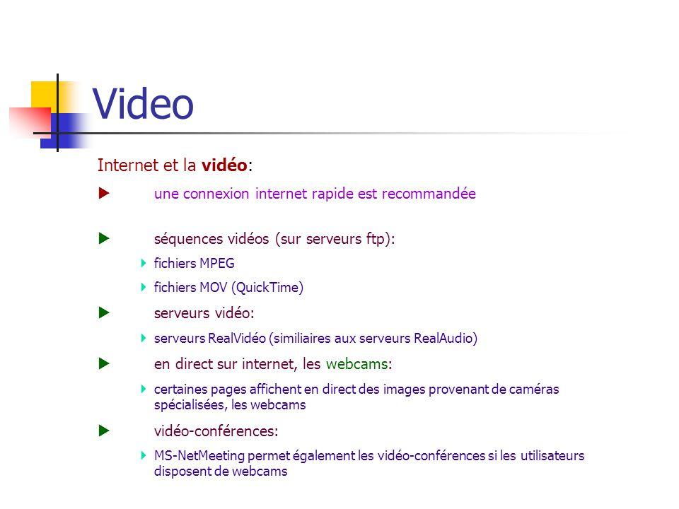 Video Internet et la vidéo: