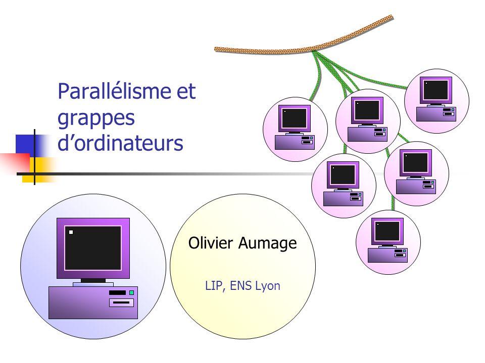 Parallélisme et grappes d'ordinateurs
