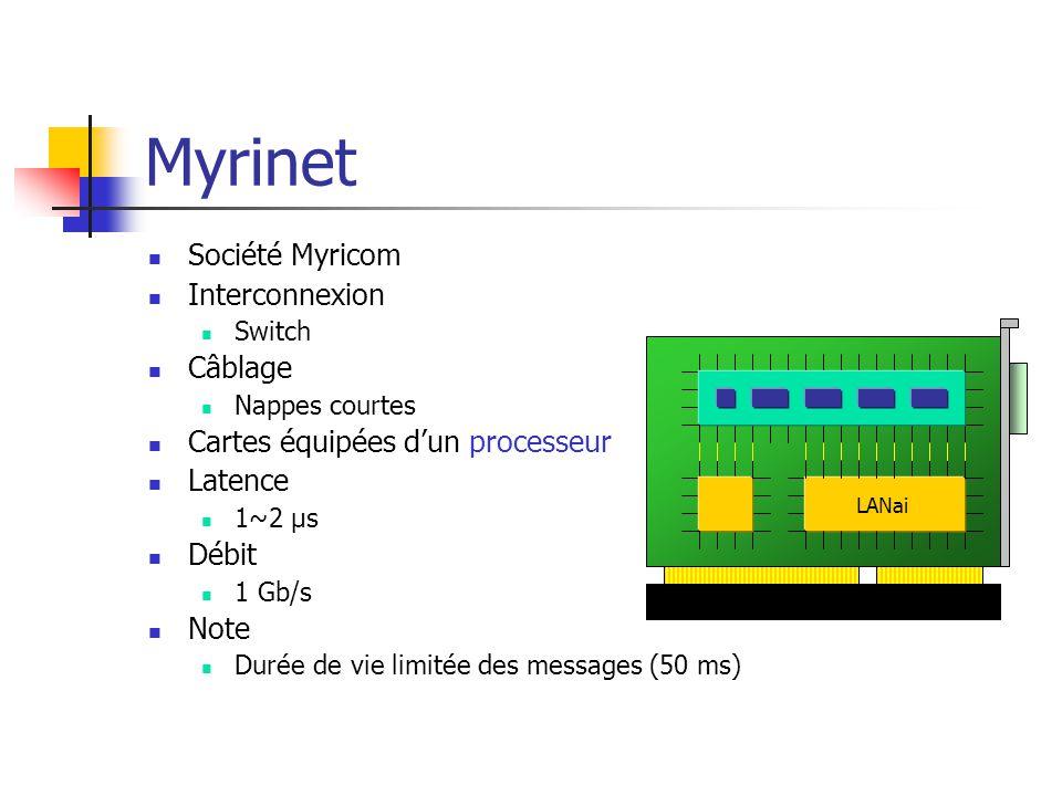 Myrinet Société Myricom Interconnexion Câblage