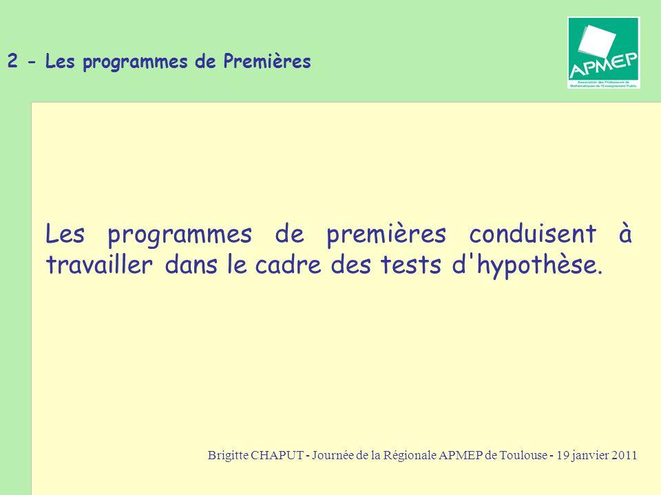 2 - Les programmes de Premières