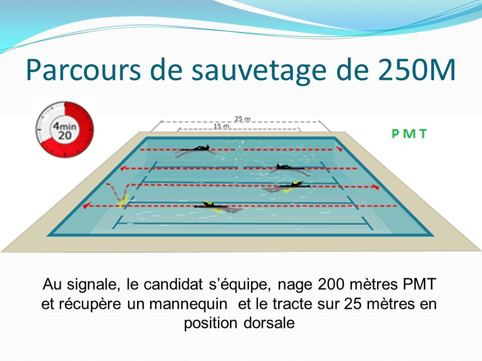 Parcours de sauvetage de 250M