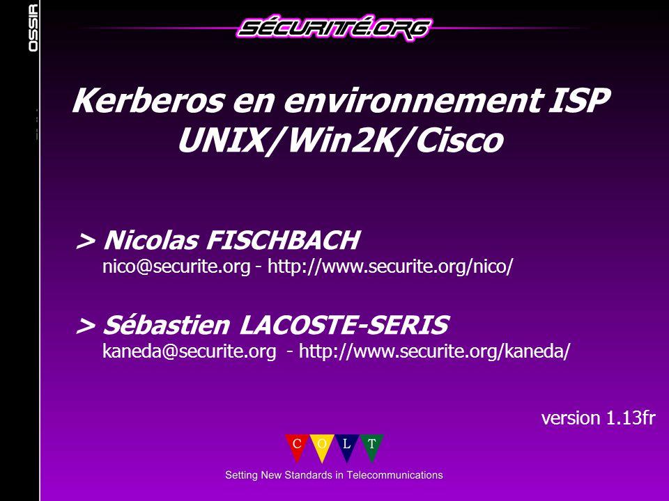 Kerberos en environnement ISP