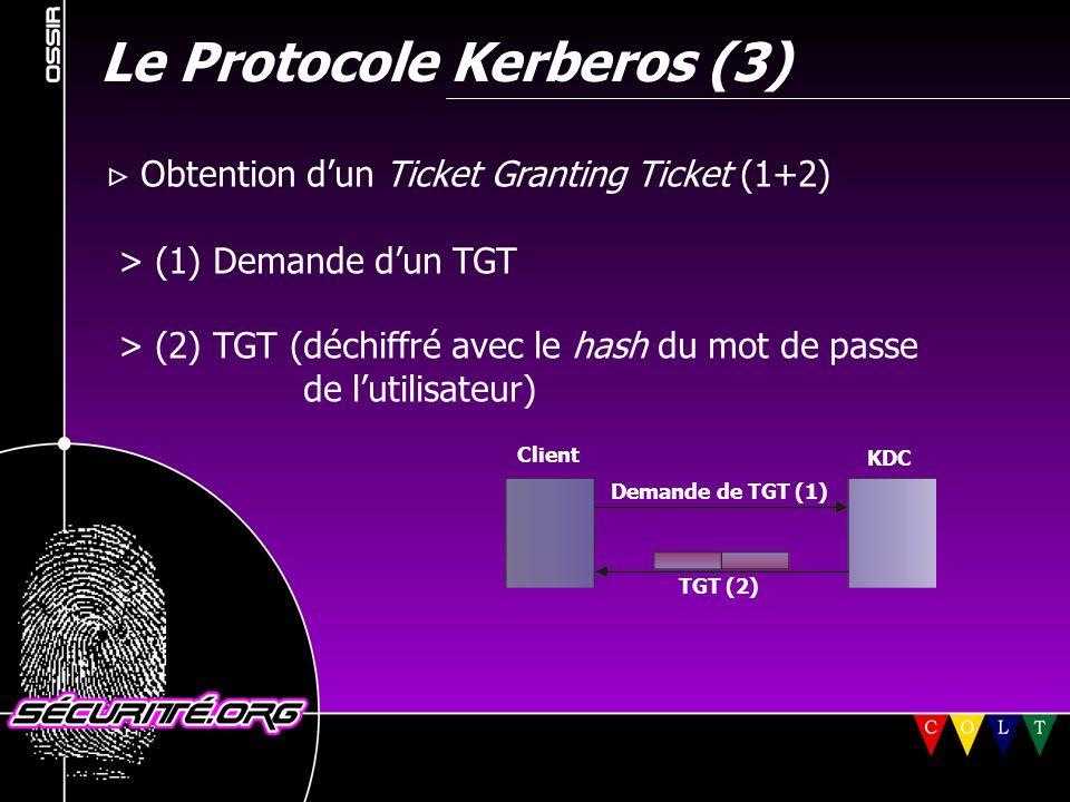 Le Protocole Kerberos (3)