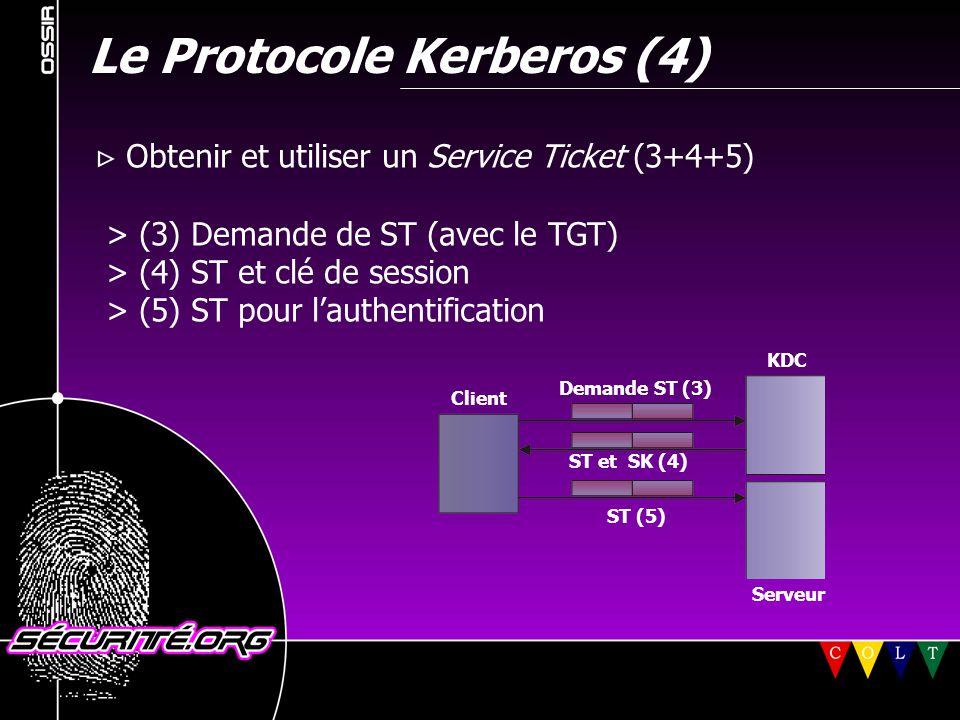 Le Protocole Kerberos (4)