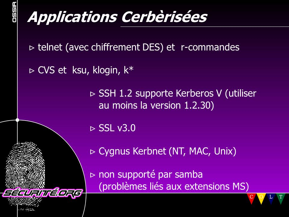 Applications Cerbèrisées