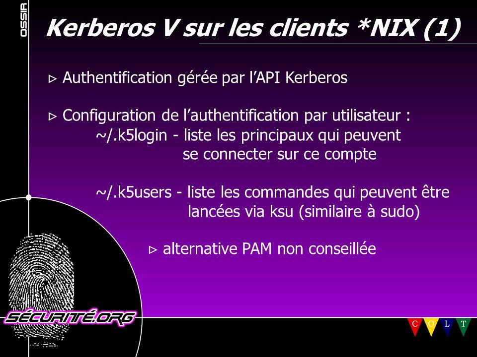 Kerberos V sur les clients *NIX (1)