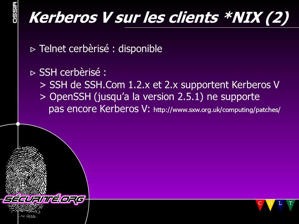 Kerberos V sur les clients *NIX (2)