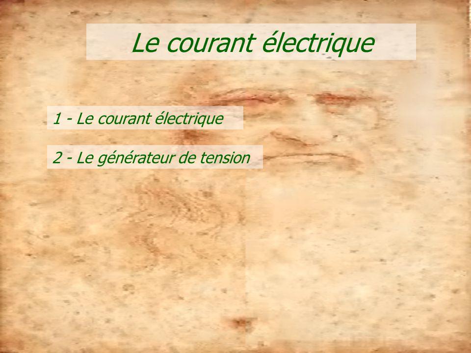 Le courant électrique 1 - Le courant électrique