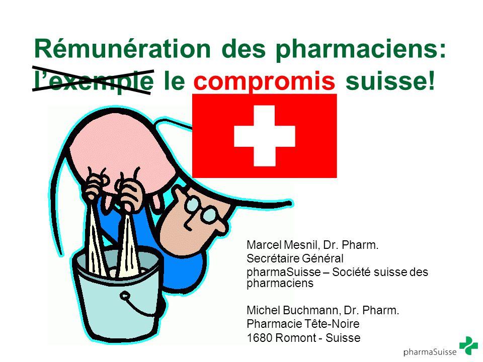 Rémunération des pharmaciens: l'exemple le compromis suisse!