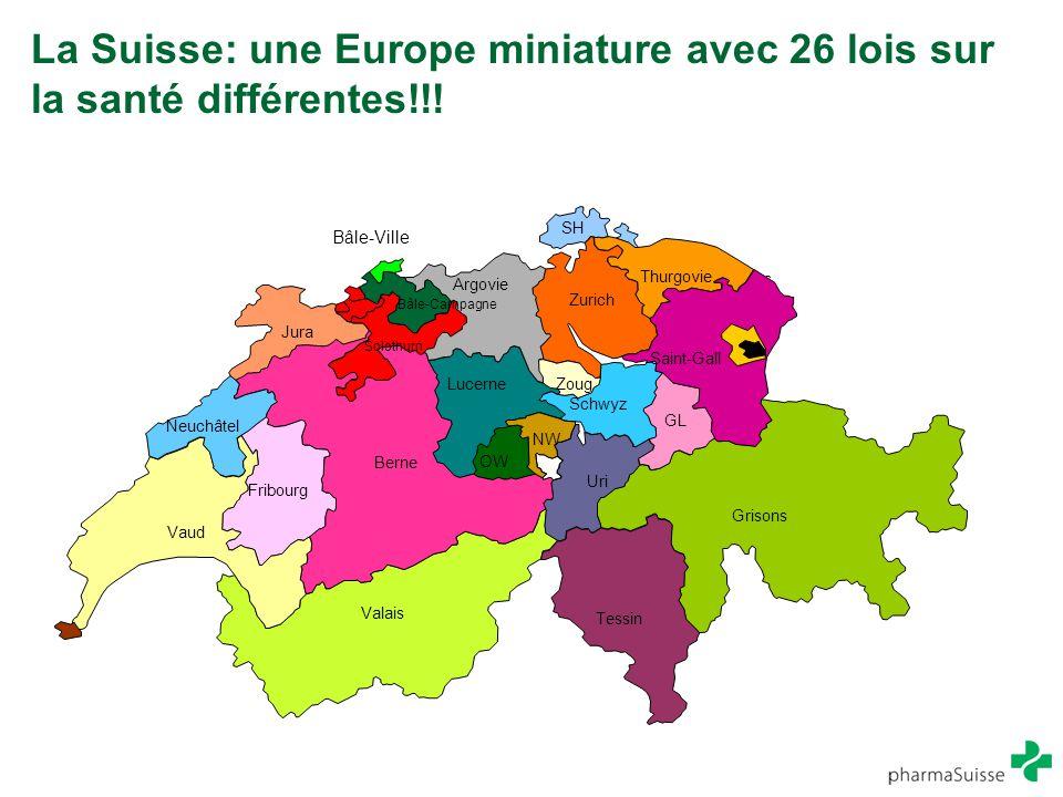 La Suisse: une Europe miniature avec 26 lois sur la santé différentes!!!