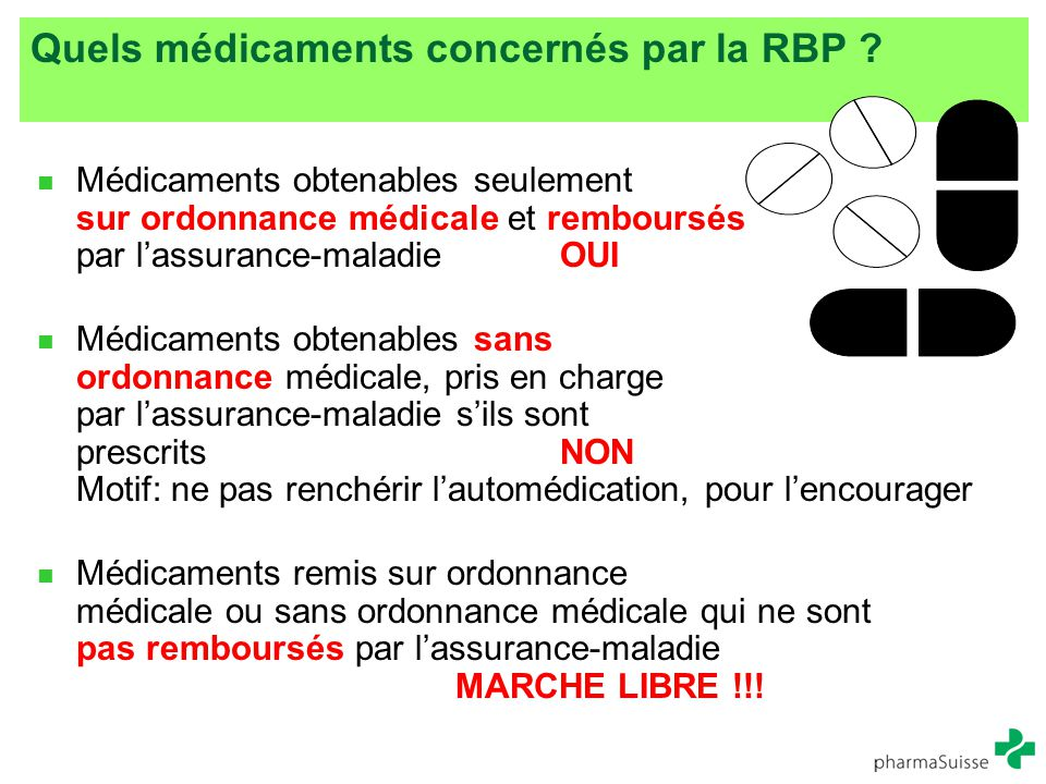 Quels médicaments concernés par la RBP