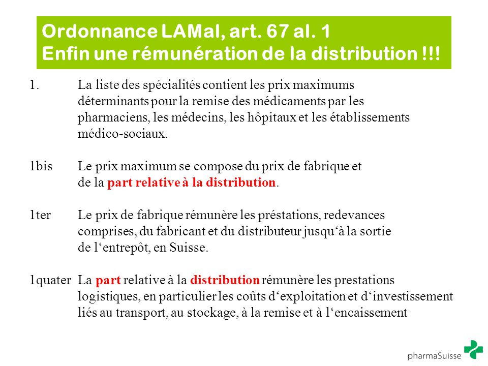 Ordonnance LAMal, art. 67 al