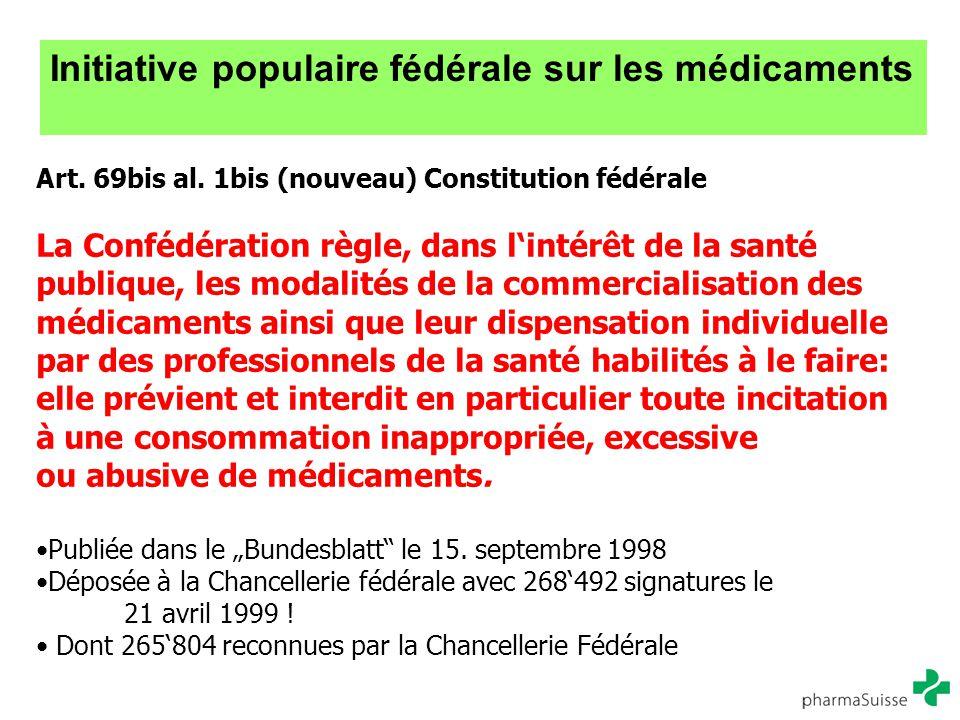 Initiative populaire fédérale sur les médicaments