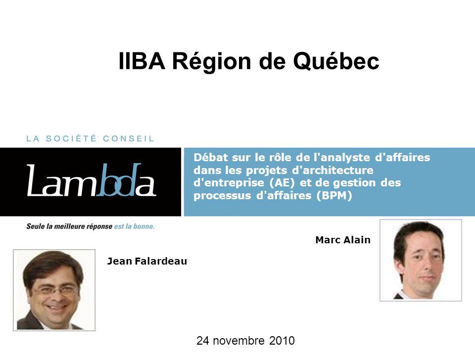 IIBA Région de Québec 24 novembre 2010