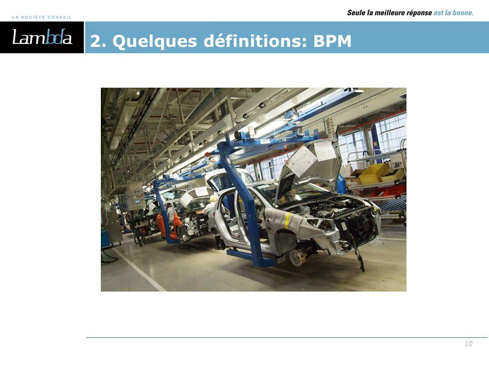 2. Quelques définitions: BPM