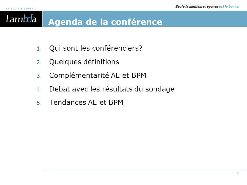 Agenda de la conférence