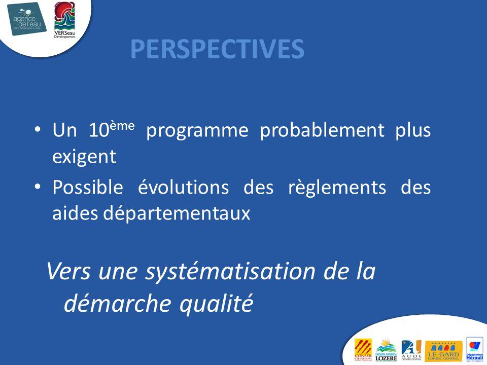 PERSPECTIVES Vers une systématisation de la démarche qualité