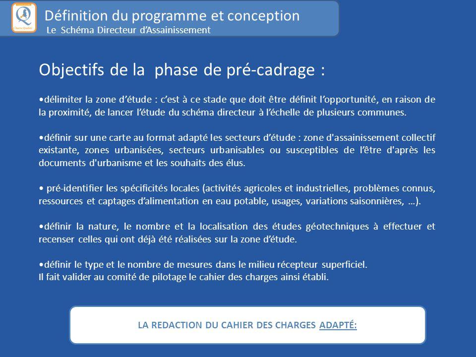 LA REDACTION DU CAHIER DES CHARGES ADAPTÉ: