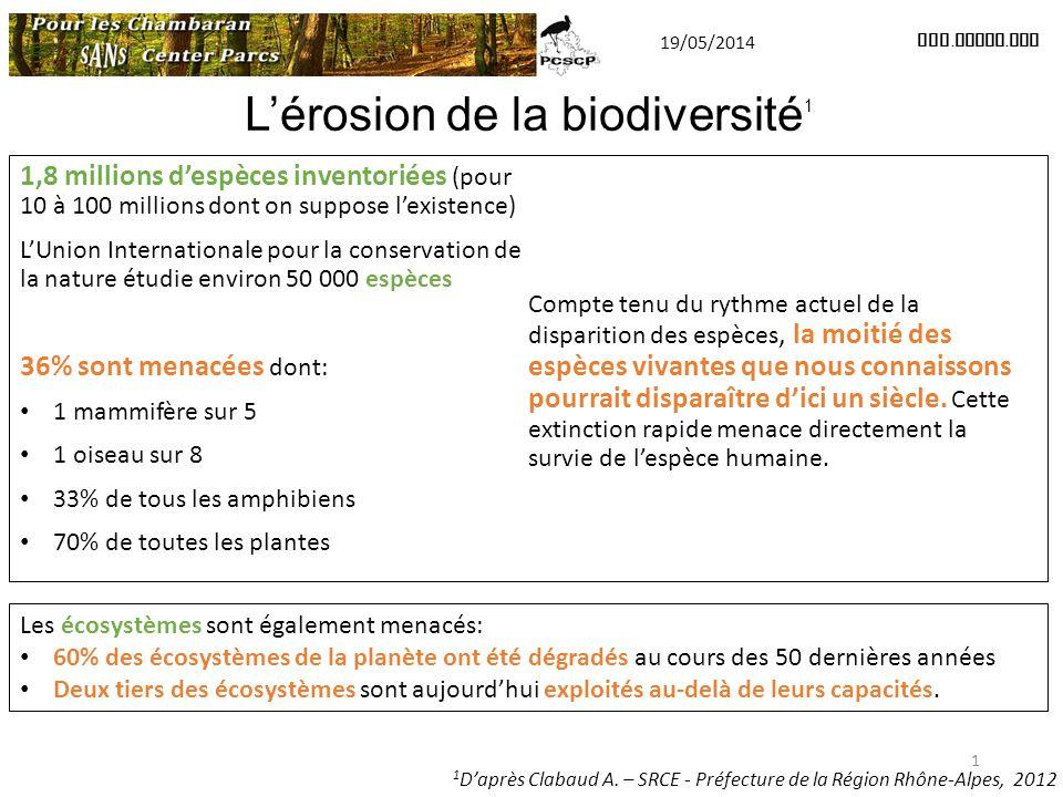 L'érosion de la biodiversité1