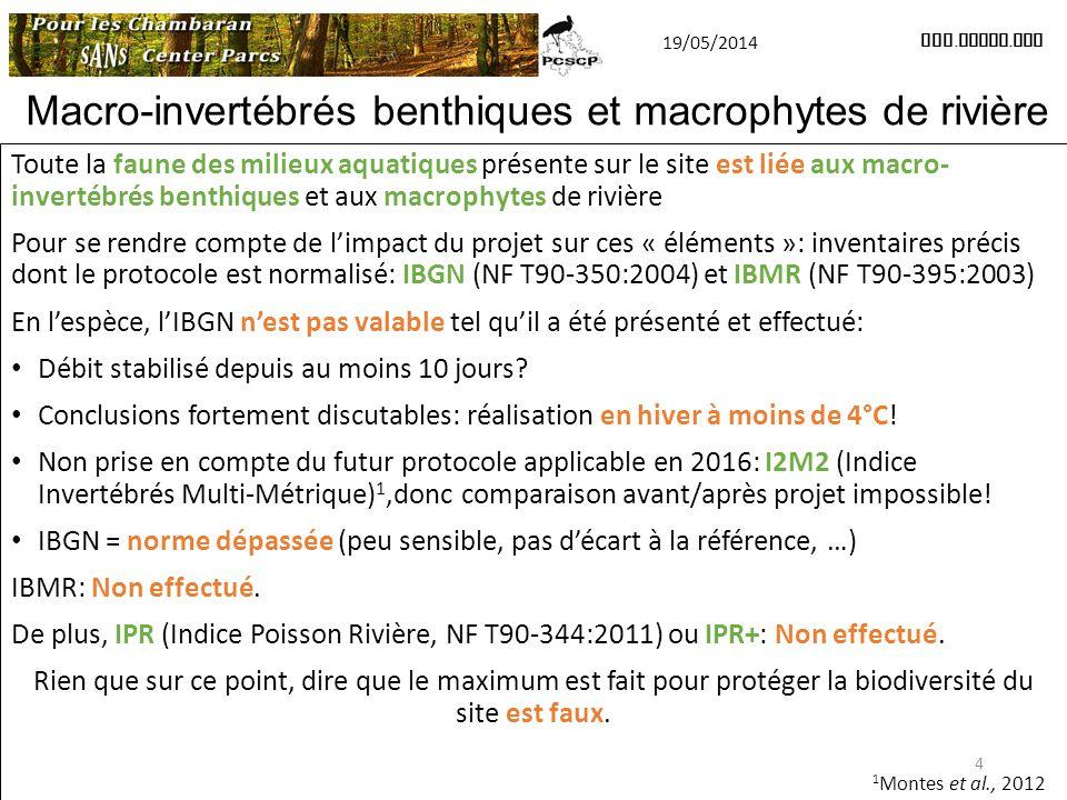 Macro-invertébrés benthiques et macrophytes de rivière