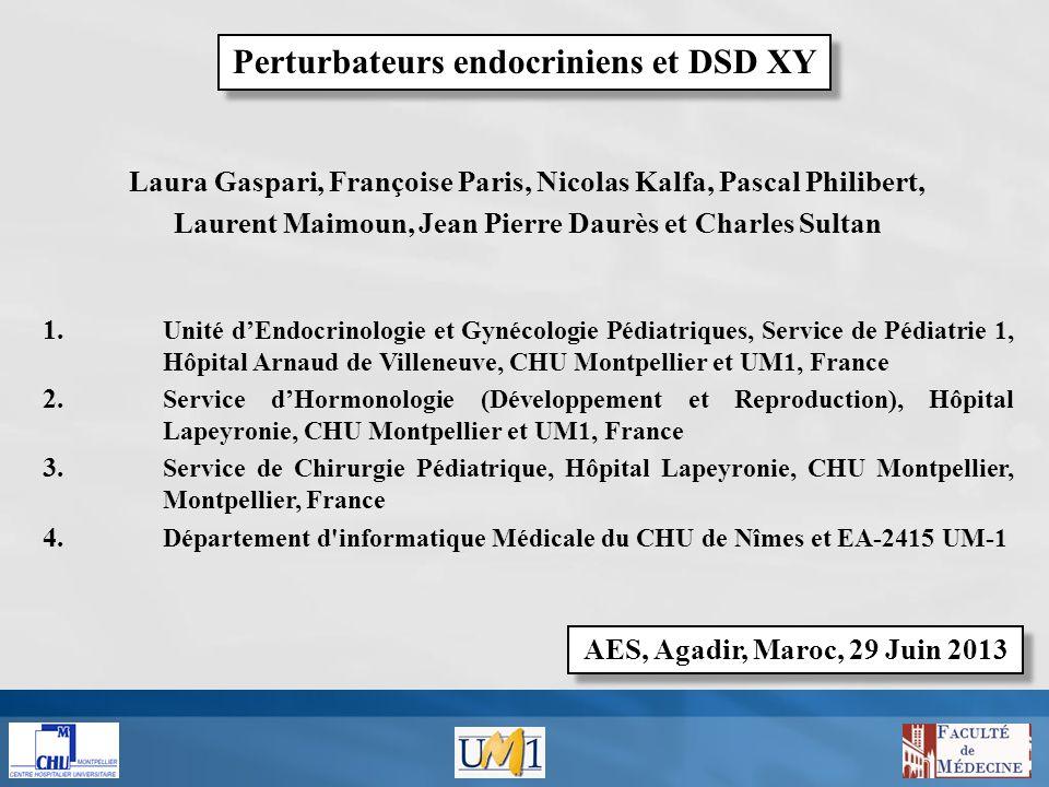 Perturbateurs endocriniens et DSD XY