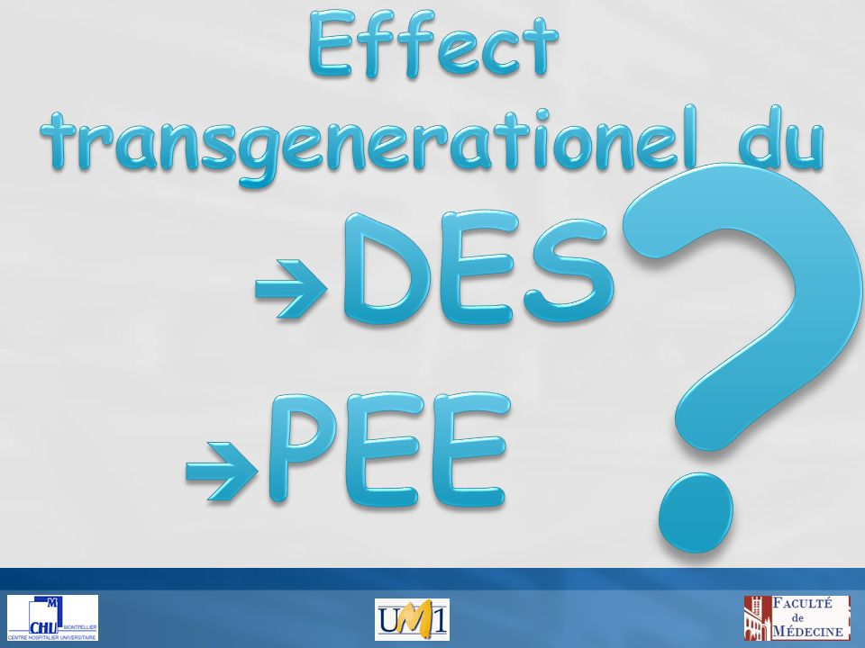 Effect transgenerationel du DES