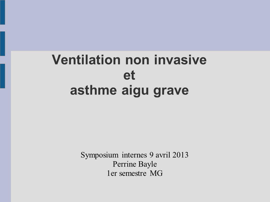 Ventilation non invasive et asthme aigu grave