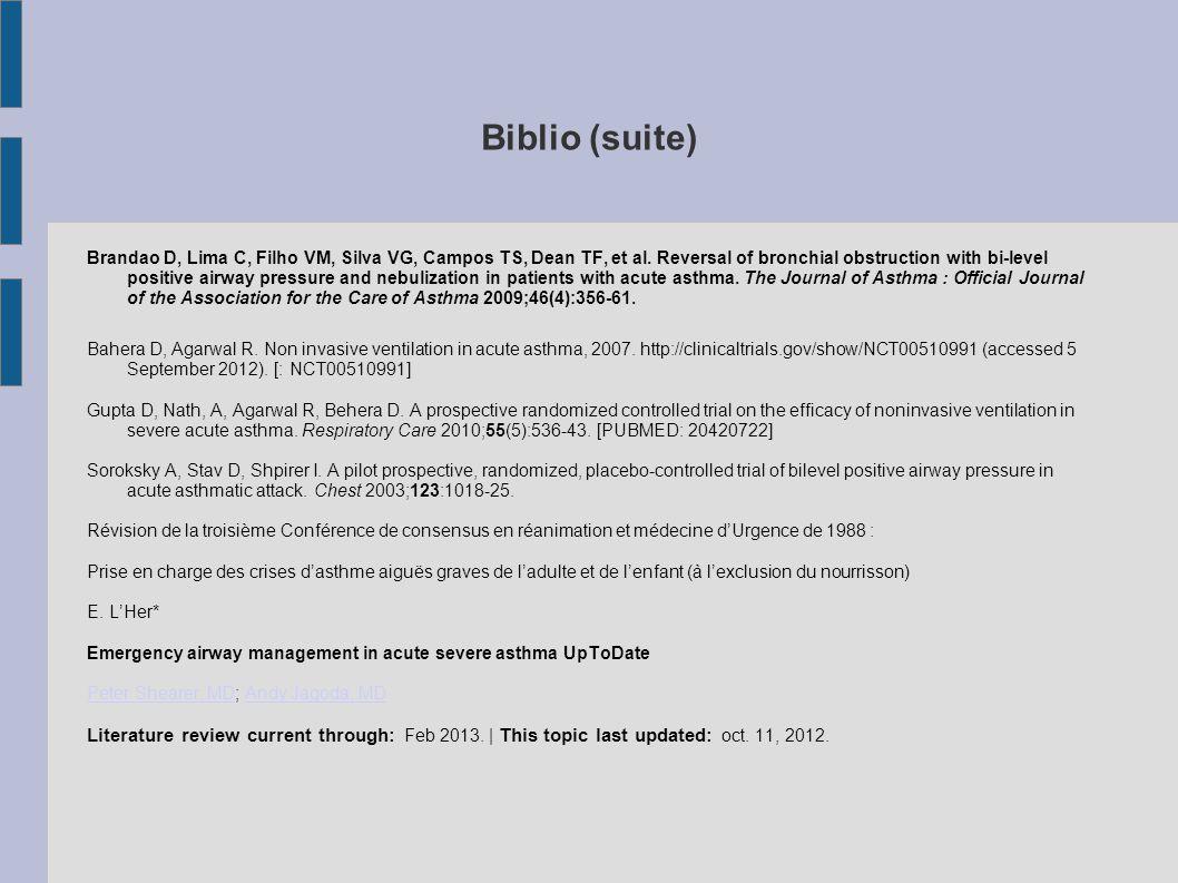 Biblio (suite)