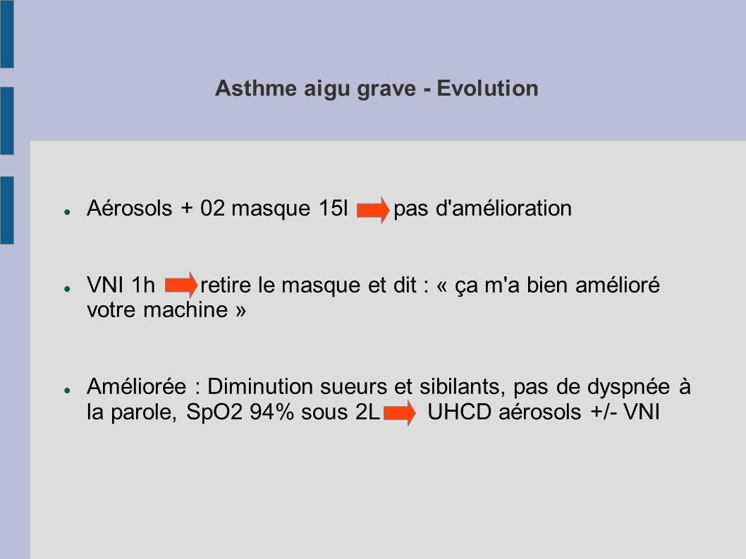 Asthme aigu grave - Evolution