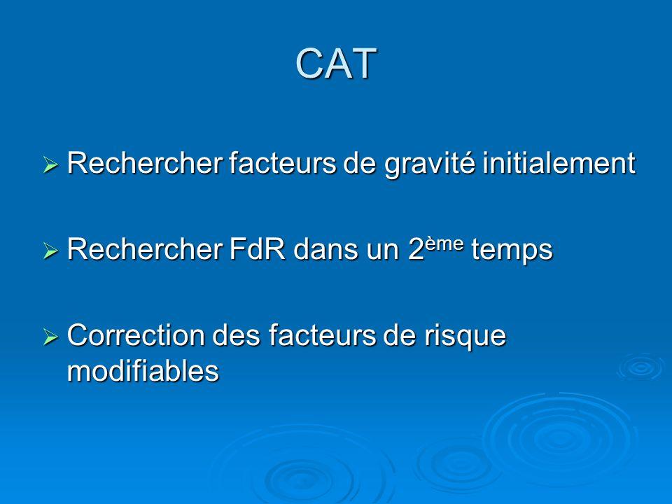 CAT Rechercher facteurs de gravité initialement